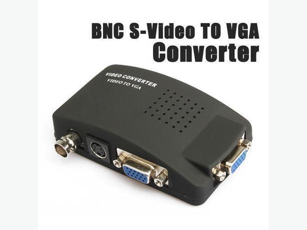 New BNC S-Video VGA to VGA CCTV Converter