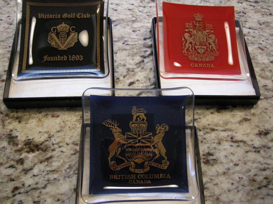 Commemorative Dishes Canada Amp Bc Coat Of Arms Amp Victoria Golf Club North Saanich Amp Sidney
