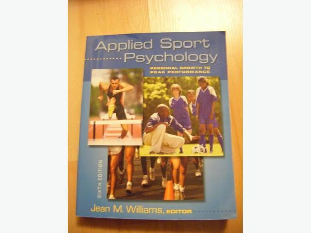 Applied Sport Psychology by Williams