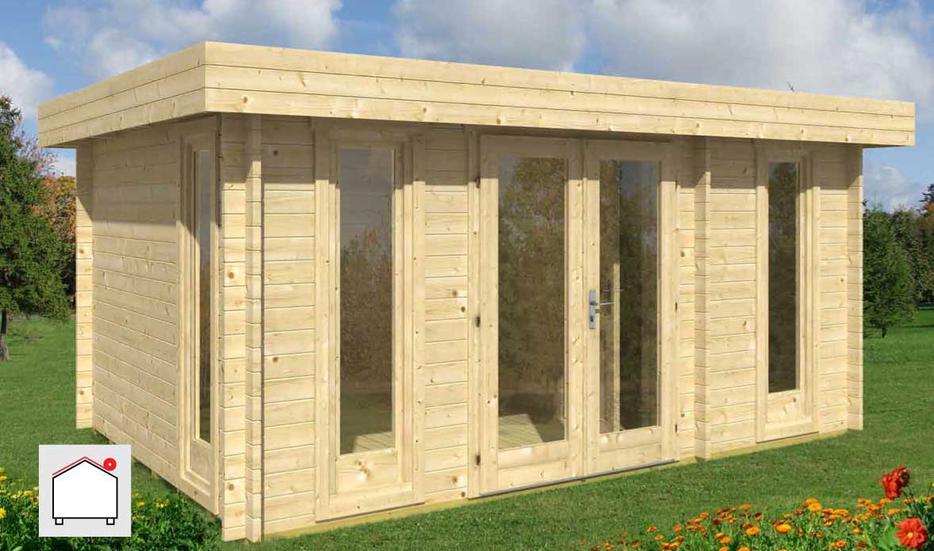 Backyard Jewel Oriental Log Cabin Kit Outside Victoria