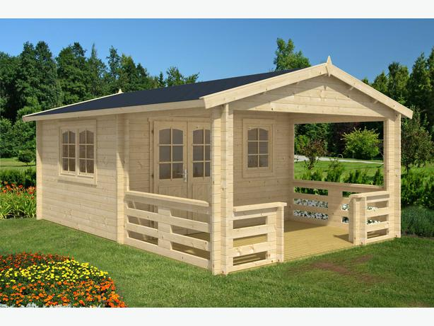 Diy Log Cabin Kit Montana With Large Porch Central Saanich