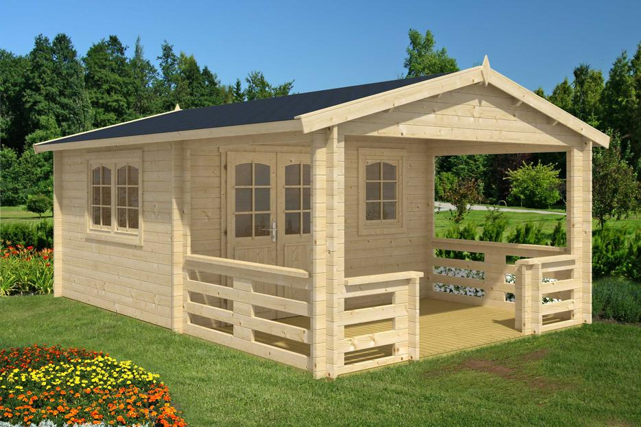 Diy log cabin kit montana with large porch central saanich for Log cabin kit homes victoria