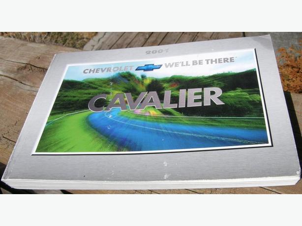 2001 Chevy Cavalier and Z24 Owners Manual
