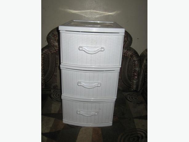 Gracious Living 3 Drawer Wicker Storage Like New Central