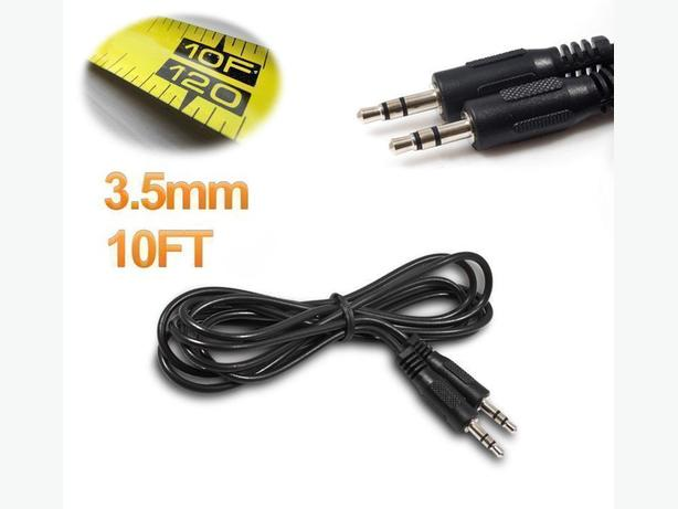 New 10 ft (3m) Male to Male 3.5mm Jack Aux Stereo Cable