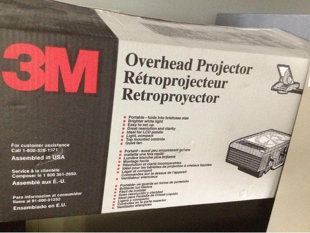 3M Overhead Projectors, New and Used.