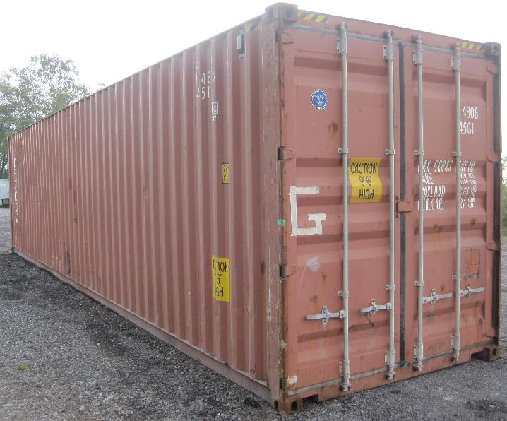 New used steel storage containers sea containers for for Outside storage units for sale