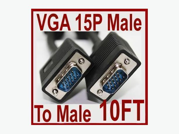 Brand New 10FT (3m) VGA SVGA Cable Male-Male Cable