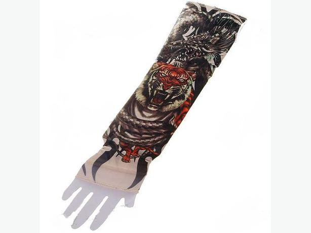 New in package colorful fake tattoo sleeves arm stockings for Fake tattoo sleeves toronto