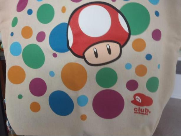 Club Nintendo Super Mario Power Up Mushroom tote bag ...