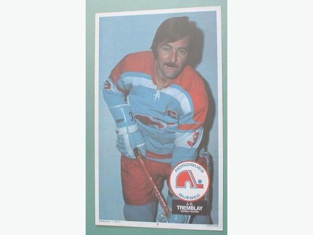 O-Pee-Chee 1973/74 WHA Poster #2  J.C. Tremblay Nordiques
