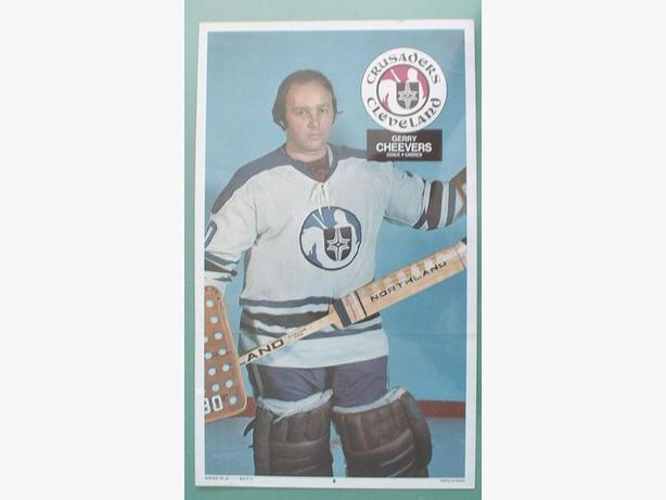 O-Pee-Chee 1973/74 WHA Poster #6 Gerry Cheevers Crusaders