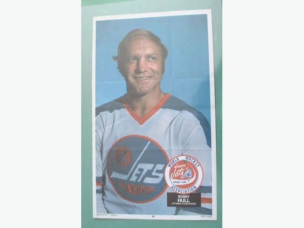 O-Pee-Chee 1973/74 WHA Poster #16  Bobby Hull Winnipeg Jets