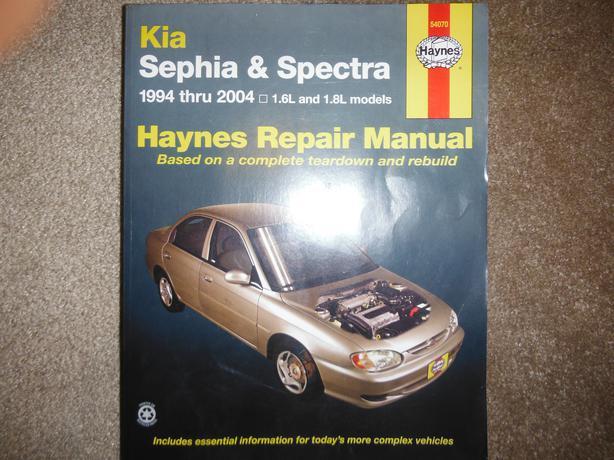 kia sephia kia spectra 1994 2004 1 6 1 8 shop manual. Black Bedroom Furniture Sets. Home Design Ideas