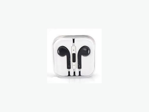 New Black In-Ear Headphones for IPhone 5 (Remote/Volumn Control/MIC)