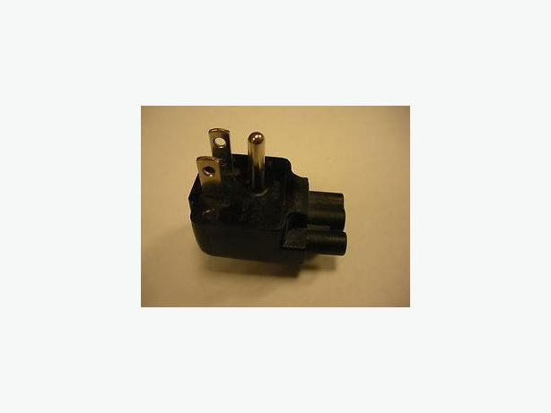 Volex Dell DL515RP 3-Prong Direct to Wall Duckhead Plug Adapter 2.5A 125V