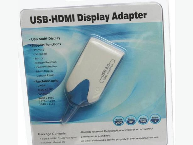 New USB 3.0 to HDMI 3 In 1 Adapter Converter Extender 1080P