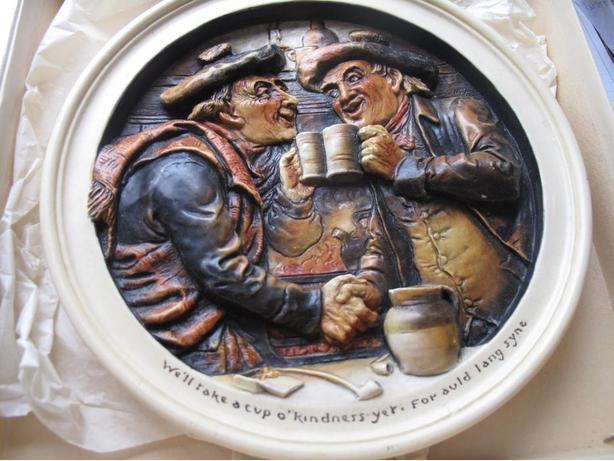 Ivorex Auld Lang Syne plaque