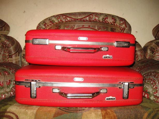 Vintage American Tourister Tiara Luggage Red Set of 2 Suitcases ...