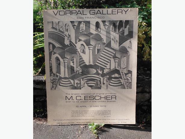 mc escher 1972 poster north saanich sidney victoria. Black Bedroom Furniture Sets. Home Design Ideas