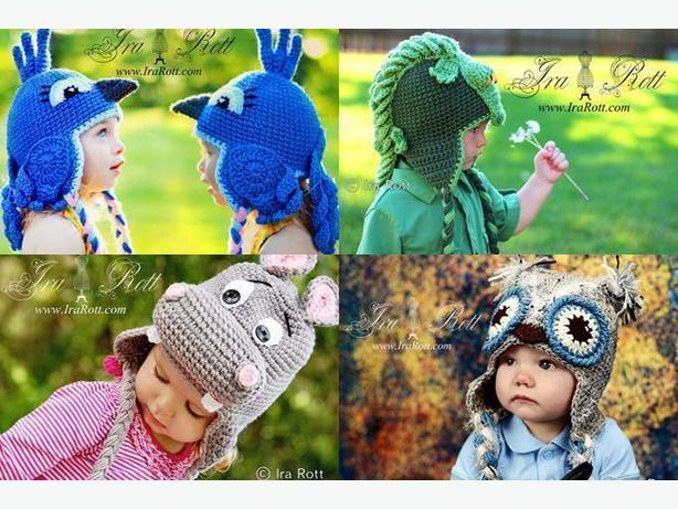 Crochet Animal hats, Photo Props and Crochet Patterns