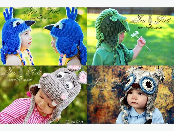 Chapeaux animaux crochet Handmade Crochet Animal hats