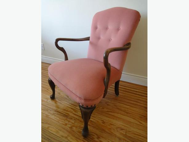 vintage upholstered wooden CHAIR