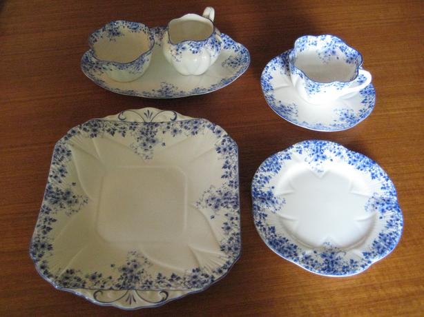 "SHELLEY ""Dainty Blue"" Tea Set"