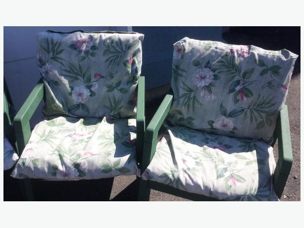 Custom Made Cushions Montreal picture on 4 Strong Green Wood Lawn Chairs 80 FIRM_20040626 with Custom Made Cushions Montreal, sofa 123cd23096c3b39837d9360294a85690