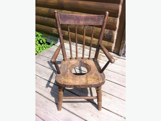 ANTIQUE CHILDS POTTY CHAIR