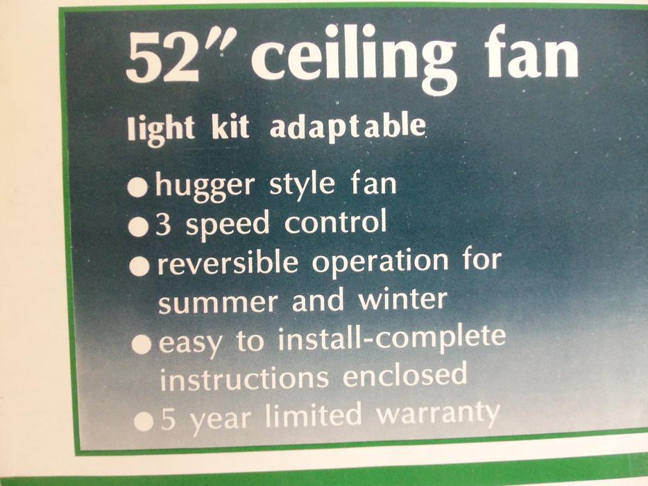 52 Hugger Style Ceiling Fan Saanich Victoria