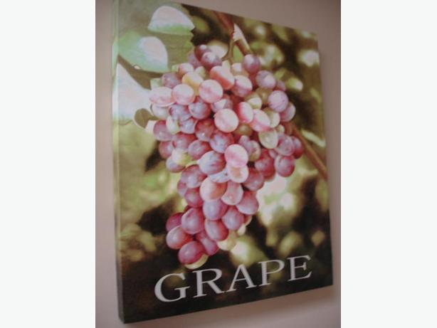 Nice Grape Print on Deluxe Quality Canvas Size 16x20