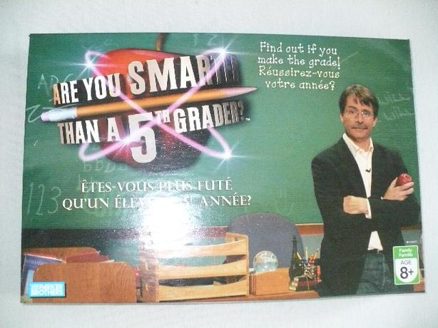 Boardgame Are You Smarter Than A 5th Grader