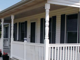 Durapoly porch post 2 5x5 porch post spindles columns for Colonial porch columns