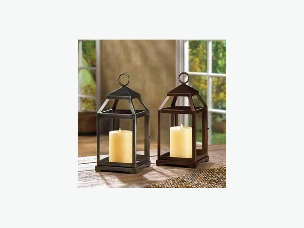 Contemporary Candleholder Lanterns Choice Rustic Silver or Bronze Lot of 4