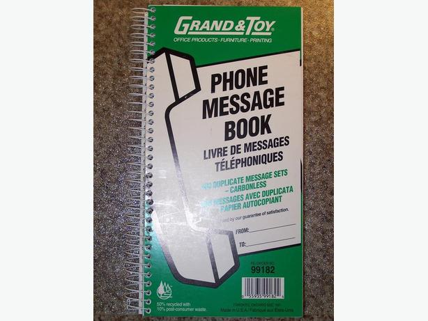 Grand & Toy Telephone Message Book - brand new