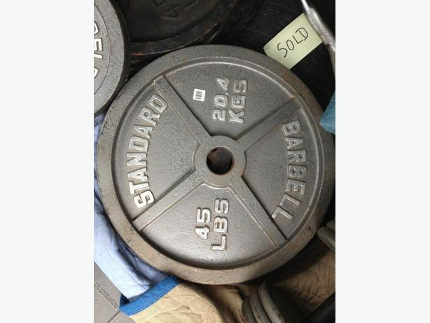 45 lb Olympic Weight Plates $1.00 an lb
