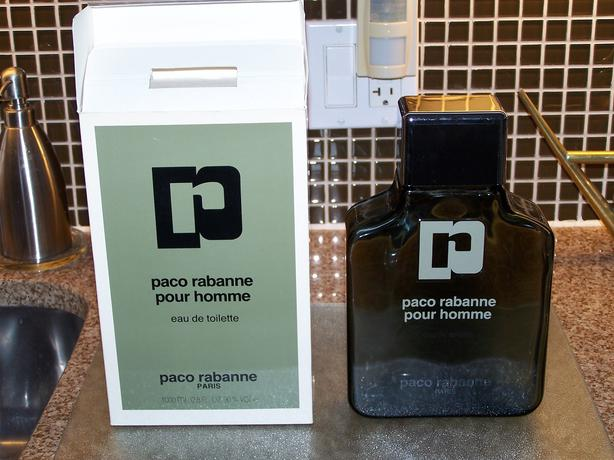 Collectible Paco Rabanne for men 1 Litre bottle (empty)