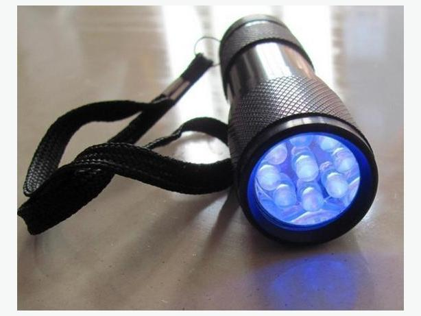 9 LED UV Flashlight with Aluminum Body