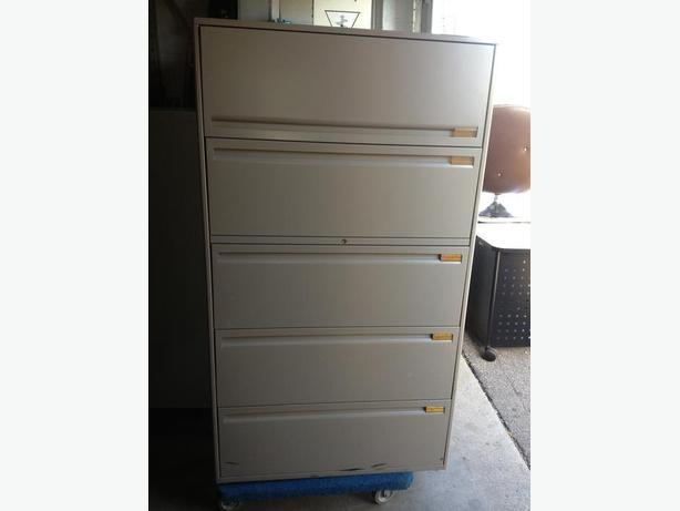 5 Drawer Lateral File Cabinets.