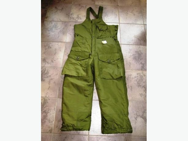 GORTEX INSULATED BIB PANTS , CDN MILITARY