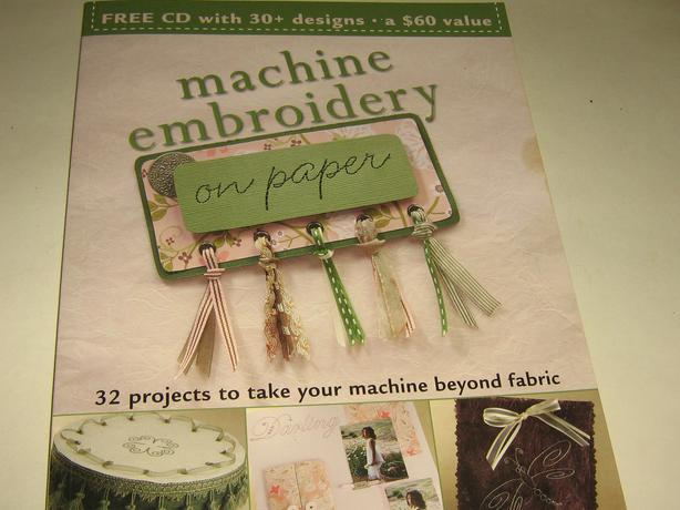 machine embroidery on paper