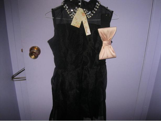 BRAND NEW - black dress with bow