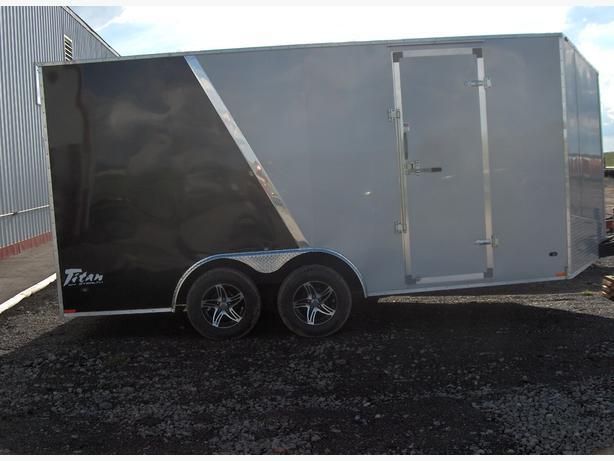 Used Tires Oshawa >> Clear Out - 2014 Stealth Titan SE 7x14 Cargo Trailer (Black/Silver) - 22103 Rural Regina, Regina