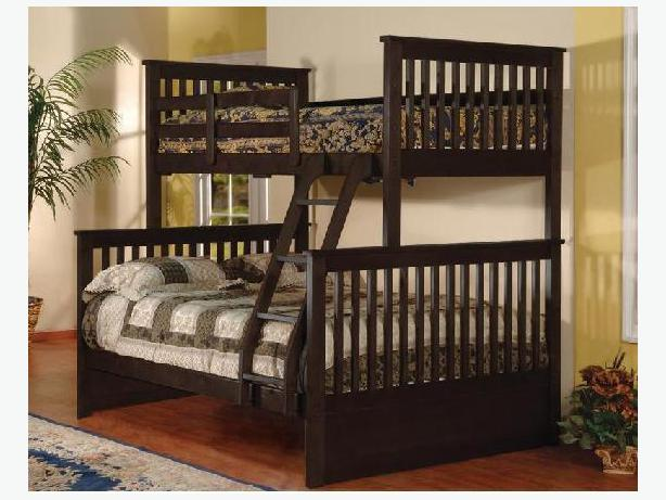 MATTRESS PLAZA -BRAND NEW TWIN /DOUBLE WOODEN BUNK BED SALE !!!