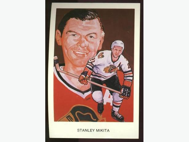 Stan Mikita Hockey Hall of Fame Postcard