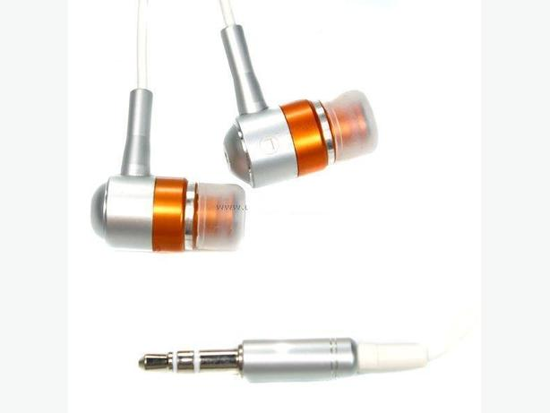 Brand New Metallic Orange Noise Isolation Stereo Earphone