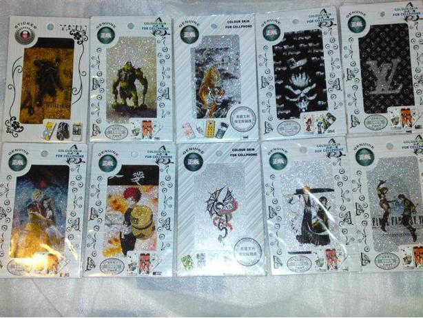New in Package Anime and LV Design Cellphone Color Skin Protector