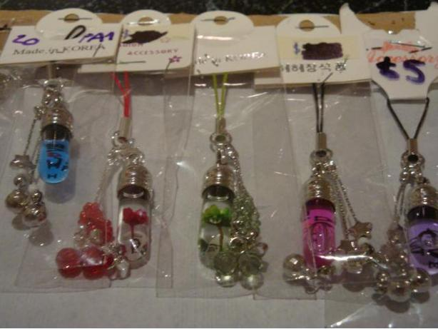 Brand new Cellphone Charm with Hand Crafted Words on Rice