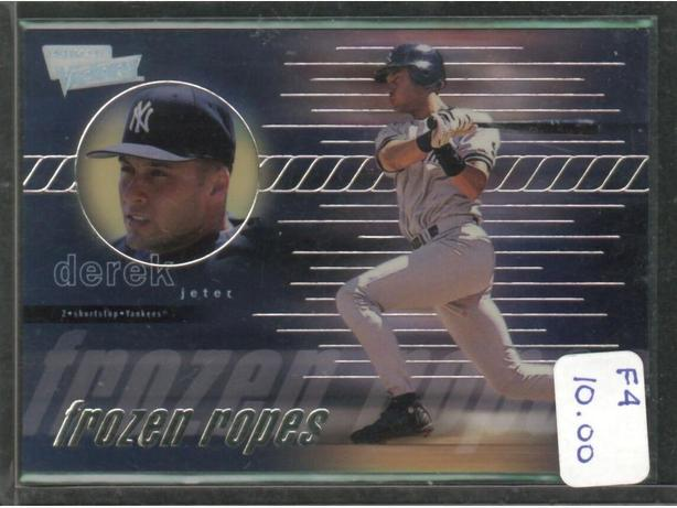1999 Upper Deck Frozen Ropes Derek Jeter Yankees